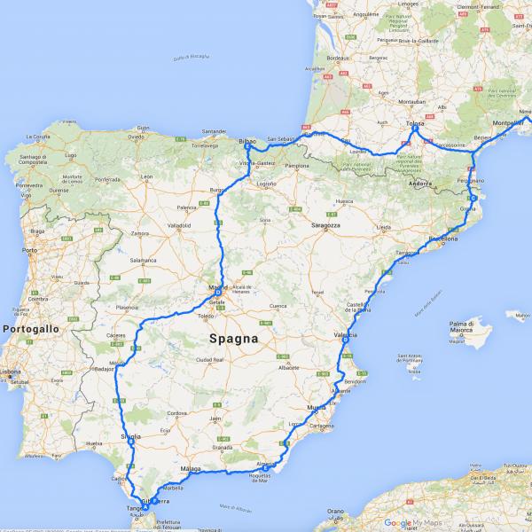 Giro della Spagna in auto ad agosto!
